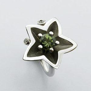 Murgrönan - Ring med Turmalin och briljanter